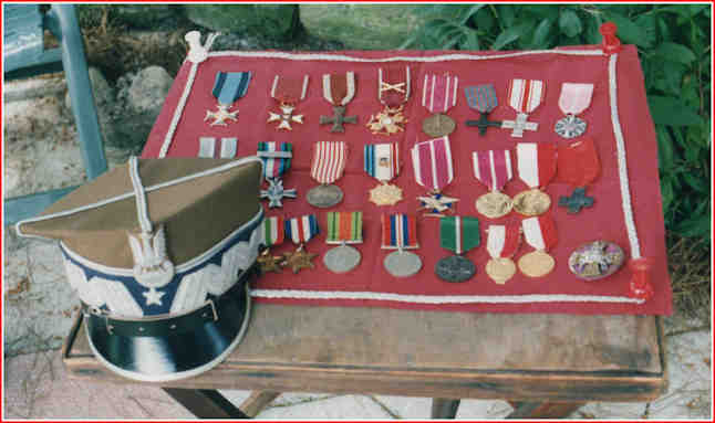 Fathers War and after medals