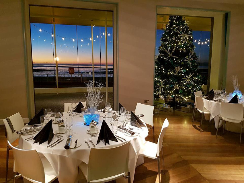 Christmas lights in the restaurant at the Midland Hotel 2016