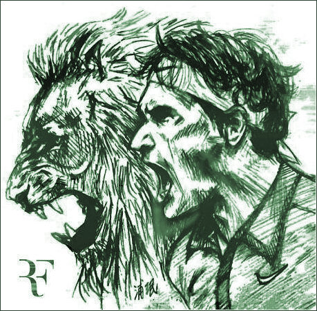 Roger Federed and a Roaring Lion