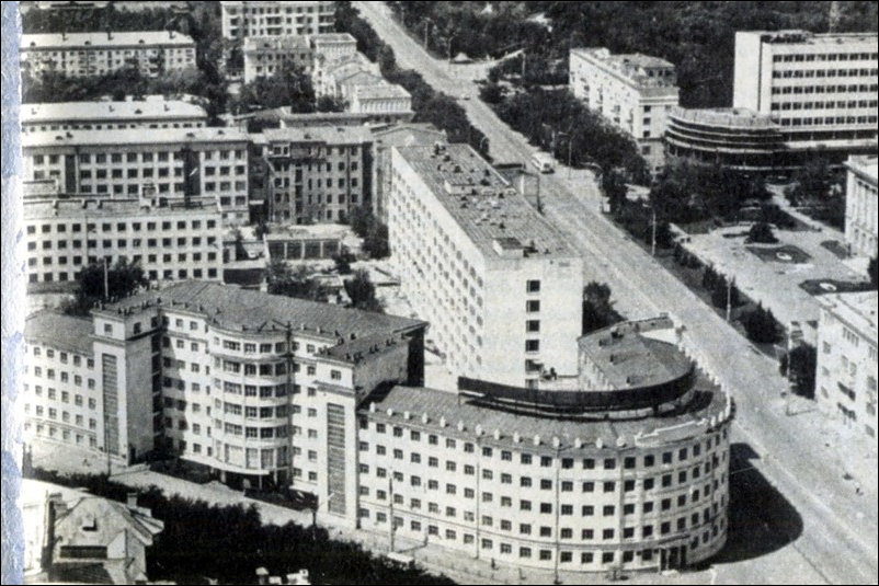 Chelyabinsk Building being built 1930s