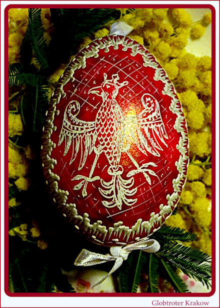 Patriotic Polis Easter Egg featuring crowned eagle