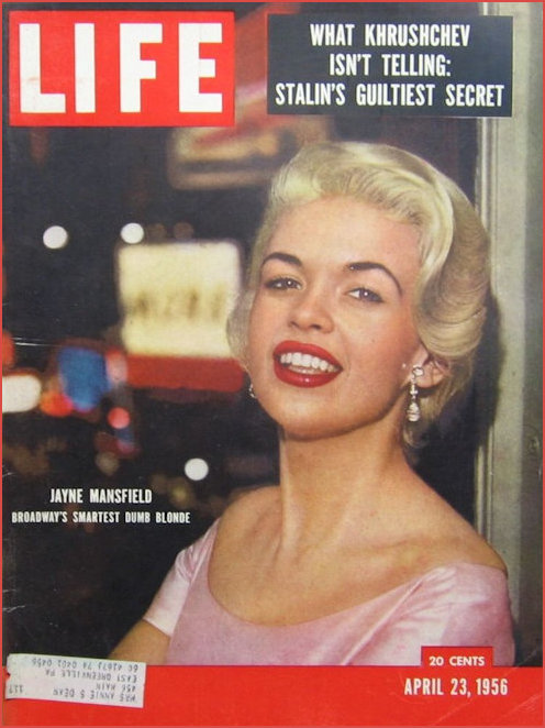 Jaybe Mansfield on cover of Life Magazine 1956