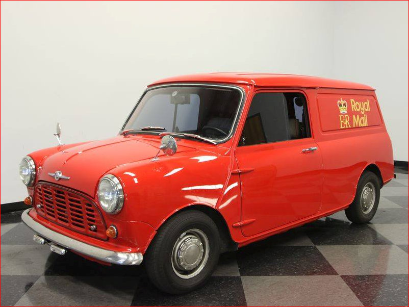 Royal Mail Mini Van from front