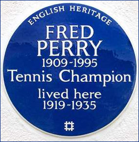 English Heritage Plaque Fred Perry