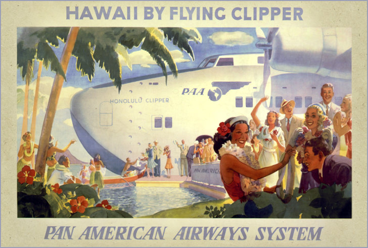 Air Clipper advertisemnt to Hawaii