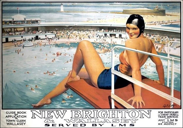 LMS Poster for New Brighton Lido