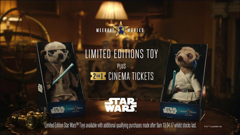 meerkats advertising Star Wars