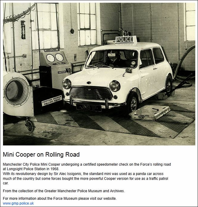 Greater Manchester Police Mini in Workshop