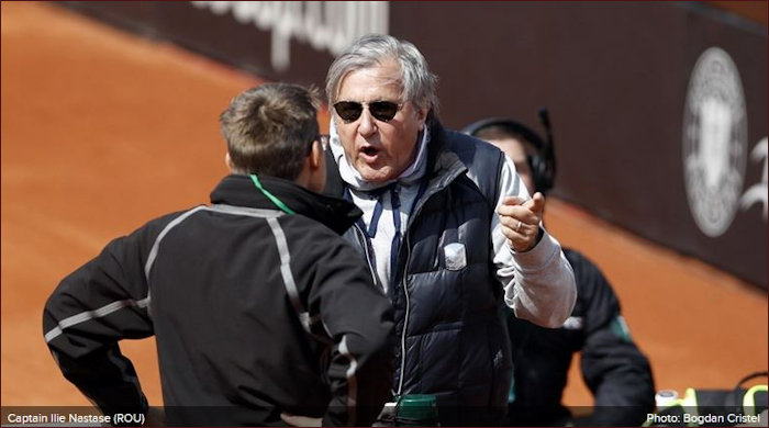 Nastase imploding on court dring Fed Cup 2017