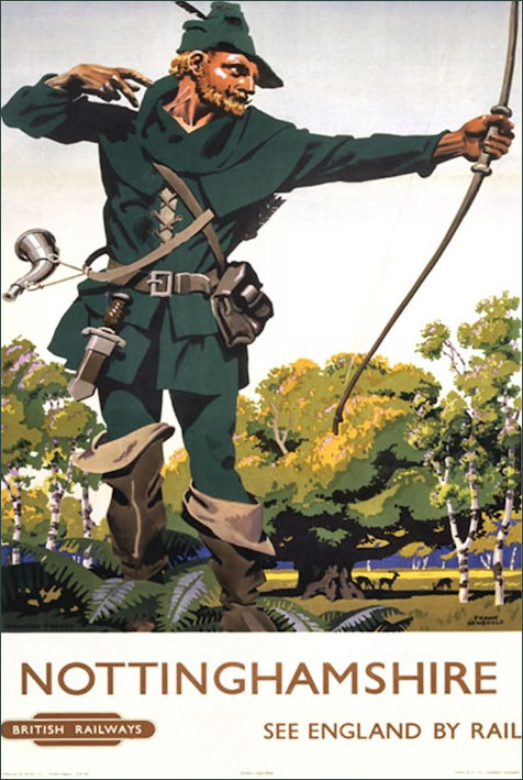 Nottinghamshire Robin Hood BR by Frank Newbould 1953