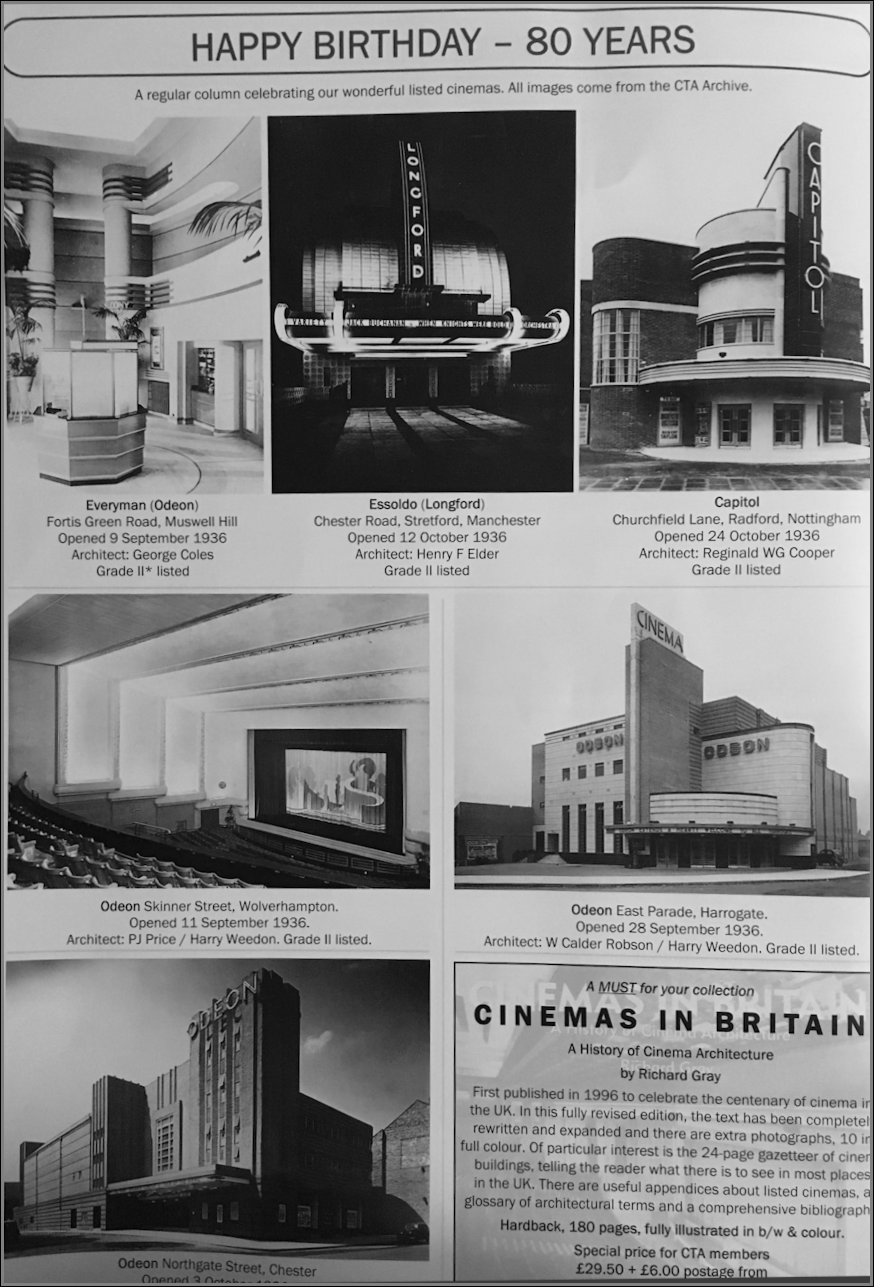 Cinemas celebrating 80th anniversaries in 2016