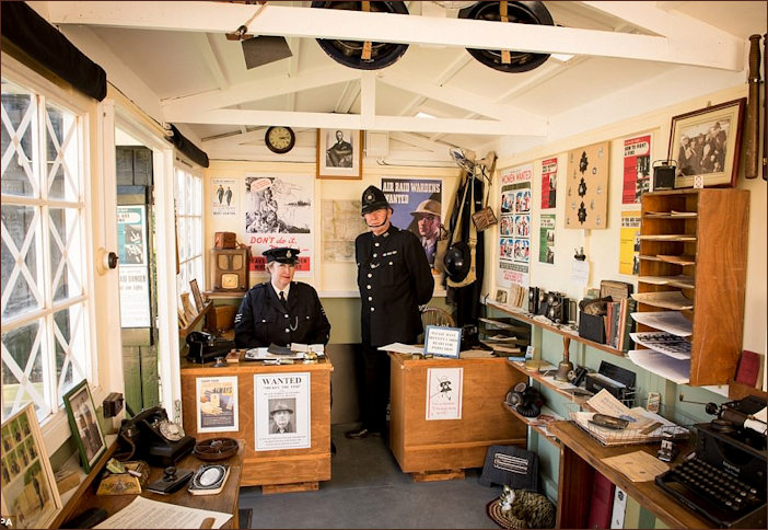A shed recreated as a wartime Police Station