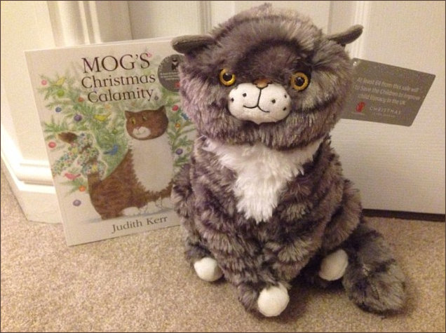 Cuddly version of Mog created for the Sainsbury's Christmas Advert