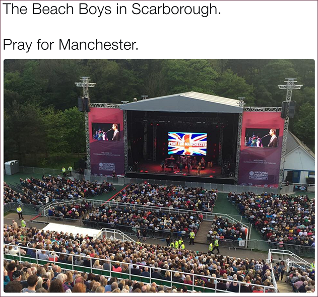 Rwitter image at Beach Boys Concert in Scarborough