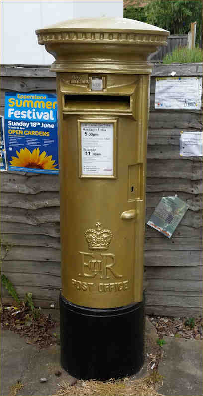 Golden Olympic Postbox
