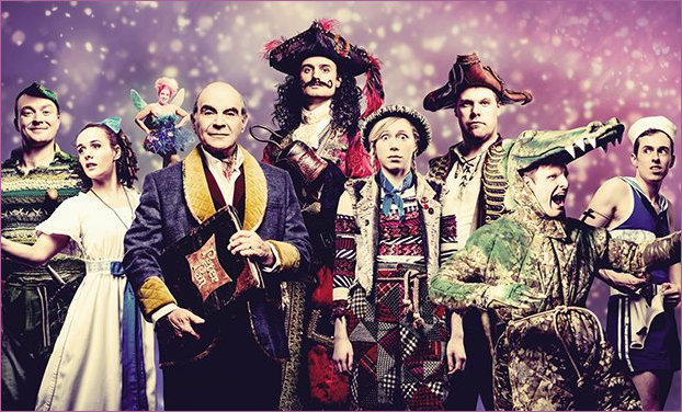 David Suchet with the cast of Peter Pan Goes wrong