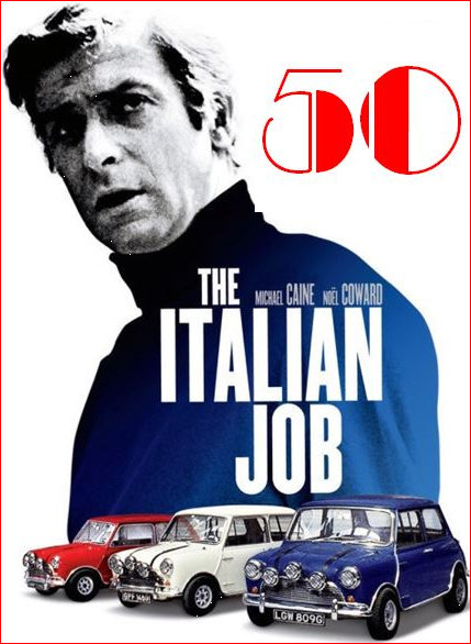 Michael Caine and those Minis in the Italian Job