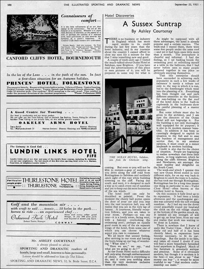 Illustrated Sports and DXrama News 23rd Sept 1938