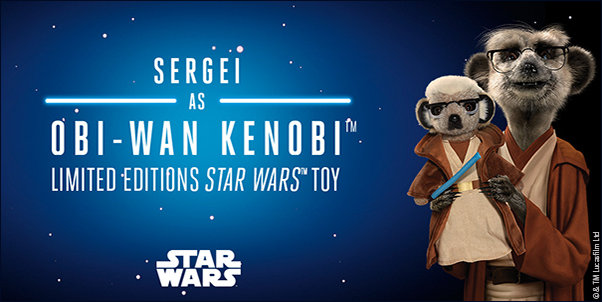 Sergei with toy of himself as Obi Wan Kenobi