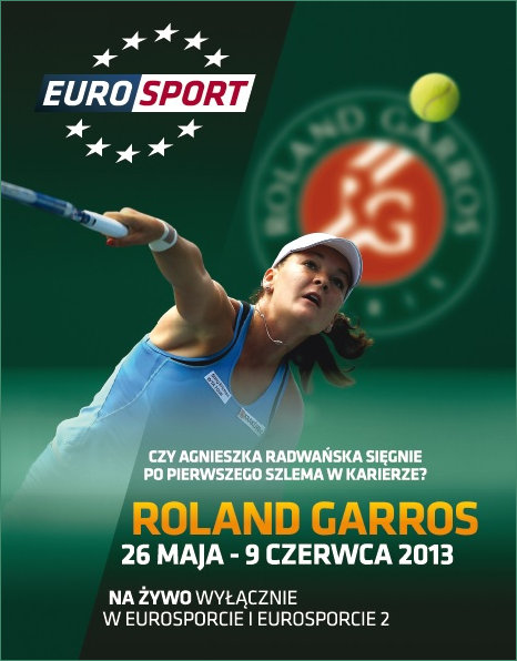 Aga Eurosports Cover Girl for French Open 2013