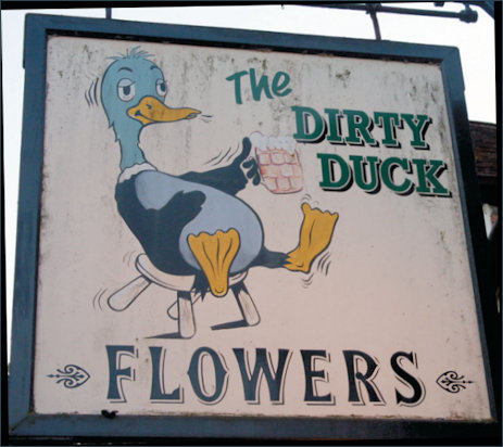 Dirty Duck Pub sign