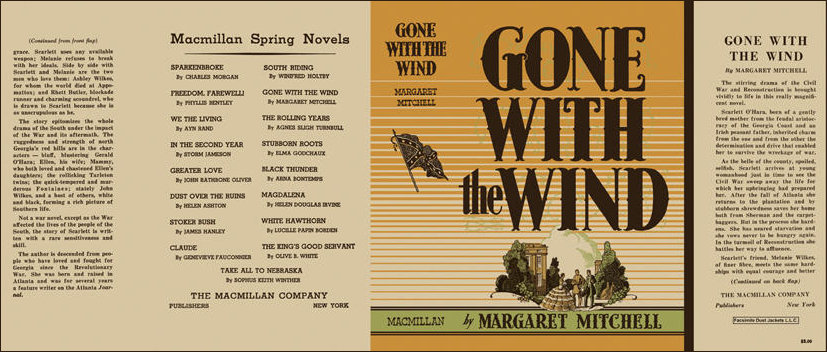 Facsimile Cover of the 2st edition of GWTW 1936
