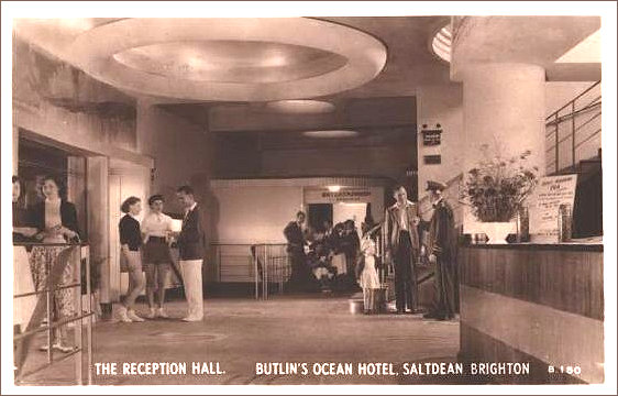 Butlins reception area