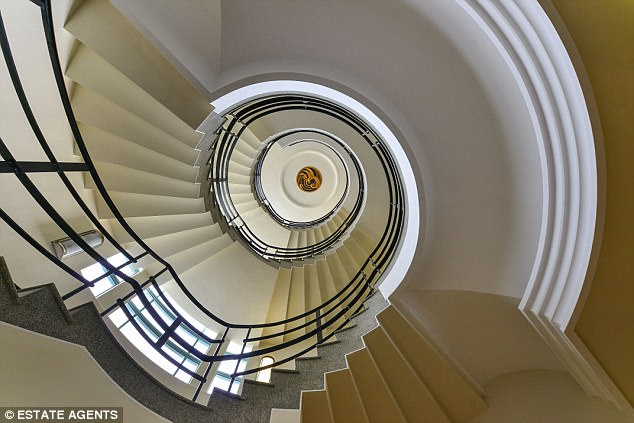 Art Deco masterpiece: The Grand Ocean Hotel at Saltdean, spiral staircase
