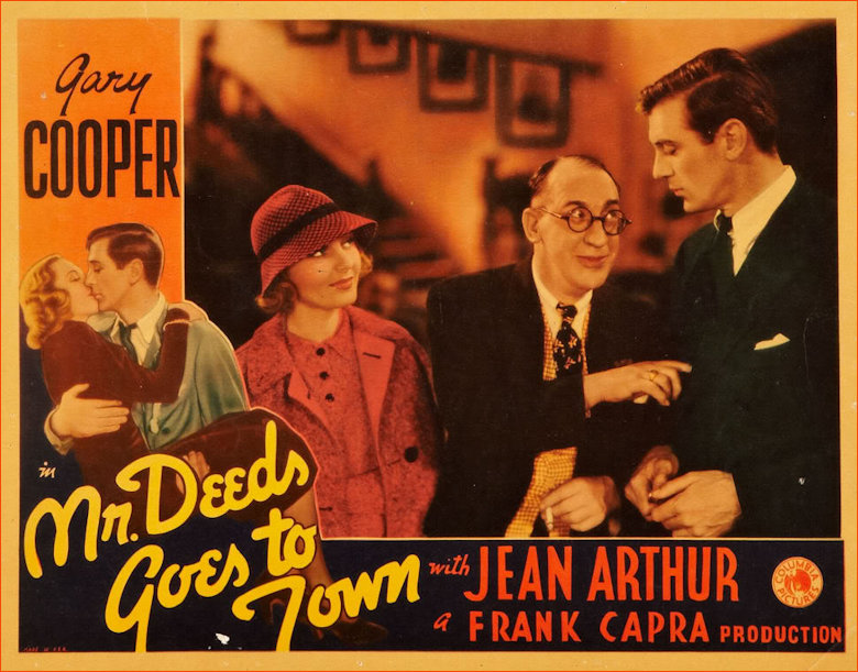 Mr Deeds goes to town film poster