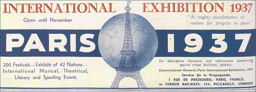 Paris Exposition advert from The Sphere