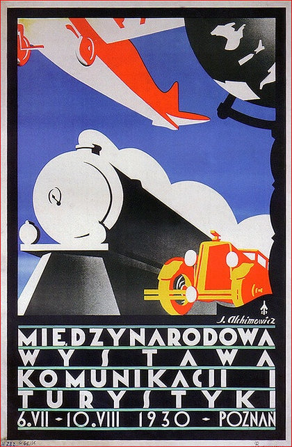 Poster for Travel Exhibition in Poznan 1930
