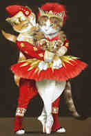 Cats in Balletic Pose