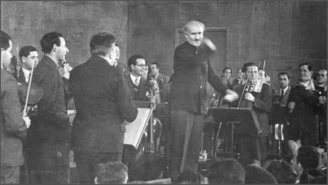 The Israel Philharmonic Orchestra rehearses ahead of its first concert in 1936