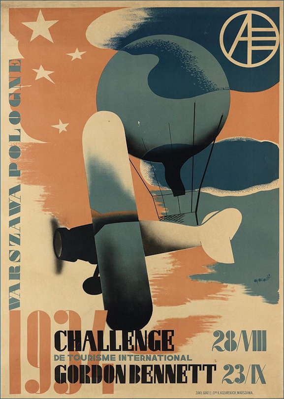 Gronowski Air Travel Poster 1934