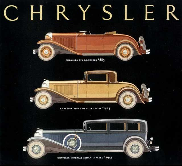 The Chrysler Stable of the 1930s