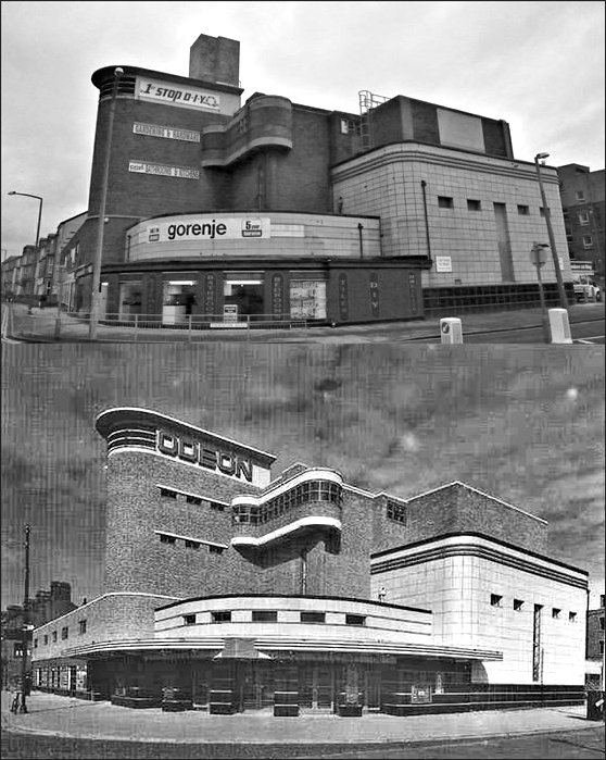 Morecambe Odeon then and now