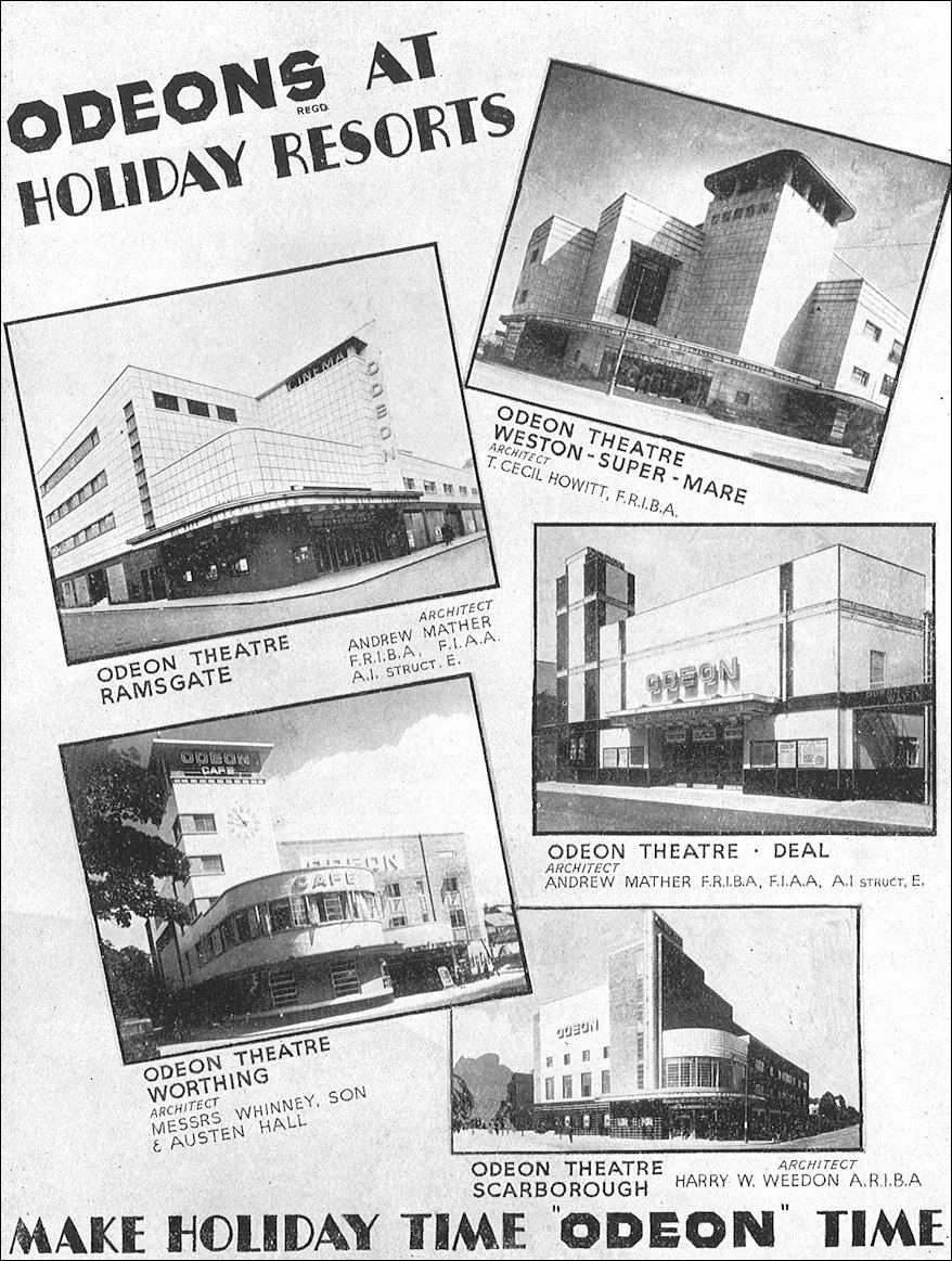Art Deco Cinemas at the Seaside 1937
