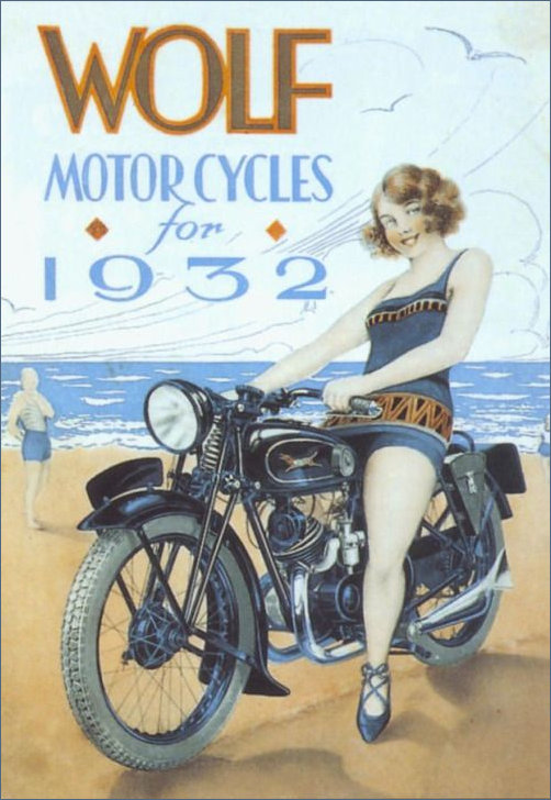 Wolf Motorcycles 1932 Ad