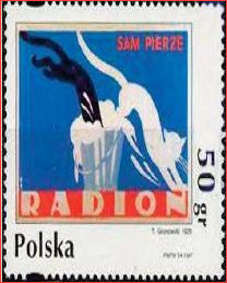 Stamp based on the original 1926 design by Gronowski
