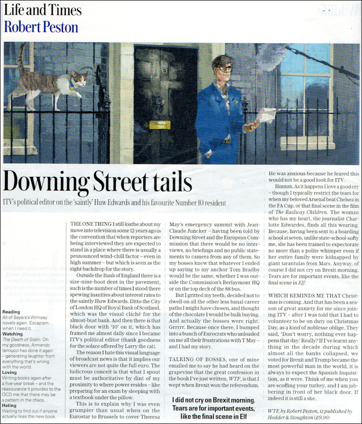 Telegraph Magazine article entitled Down Street Tails