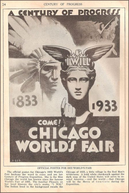 Poster for the 1933 Exposition in Chicago featuring NAI