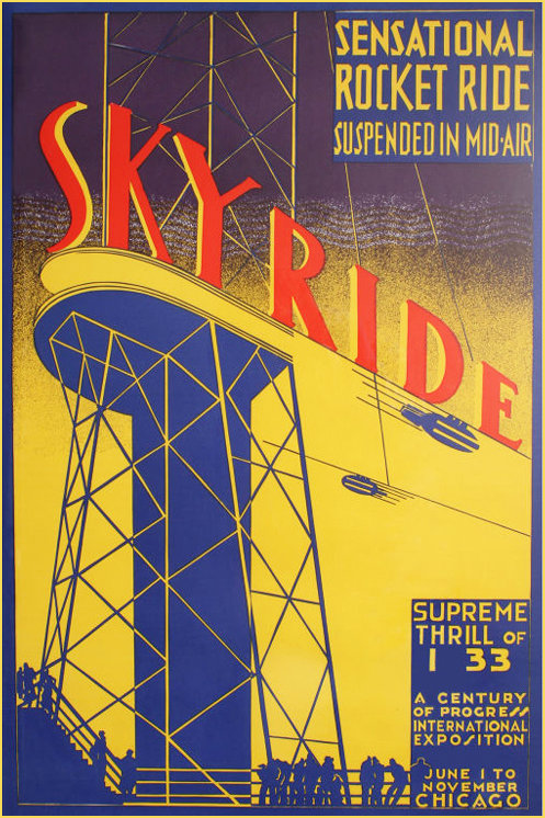 Poster advertising the Sky Ride