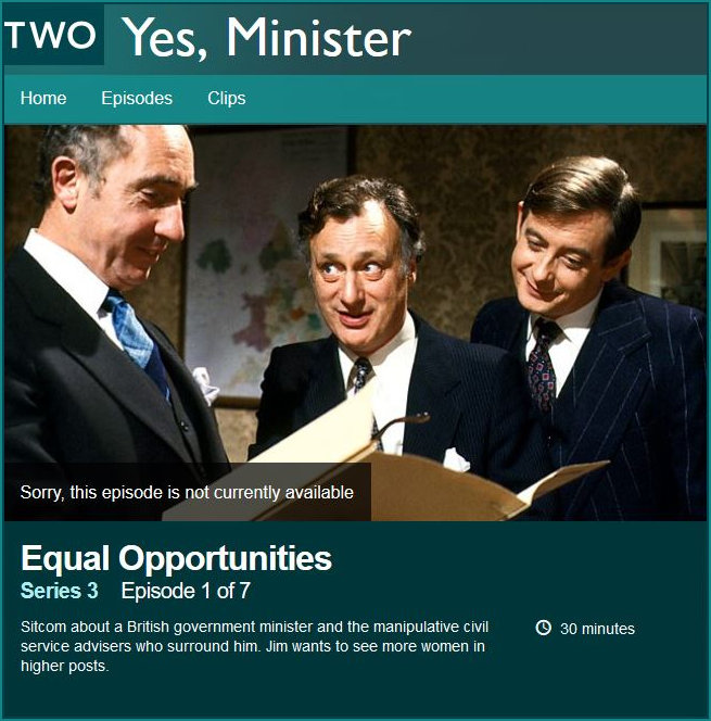 Yes Minister Equal Opportunities