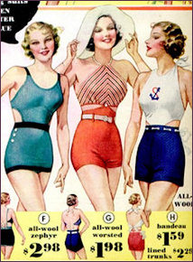 1930s wool swimsuits