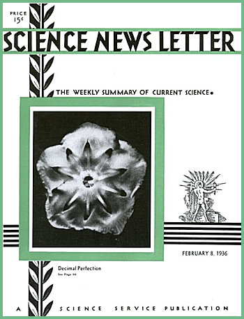The Science Newsletter dated 8th February 1936