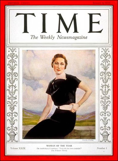 Wallis Simpson Woman of the Year 1936 Tome Magazine Cover