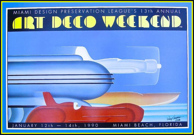 Poster for the Miami Preservation League using streamline moderne
