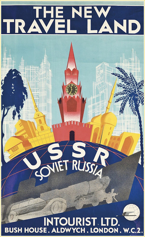 Russian Multi Travel Poster