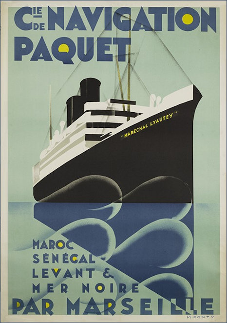 Max Ponty sea travel poster