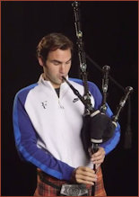 McFederer on the bagpipes